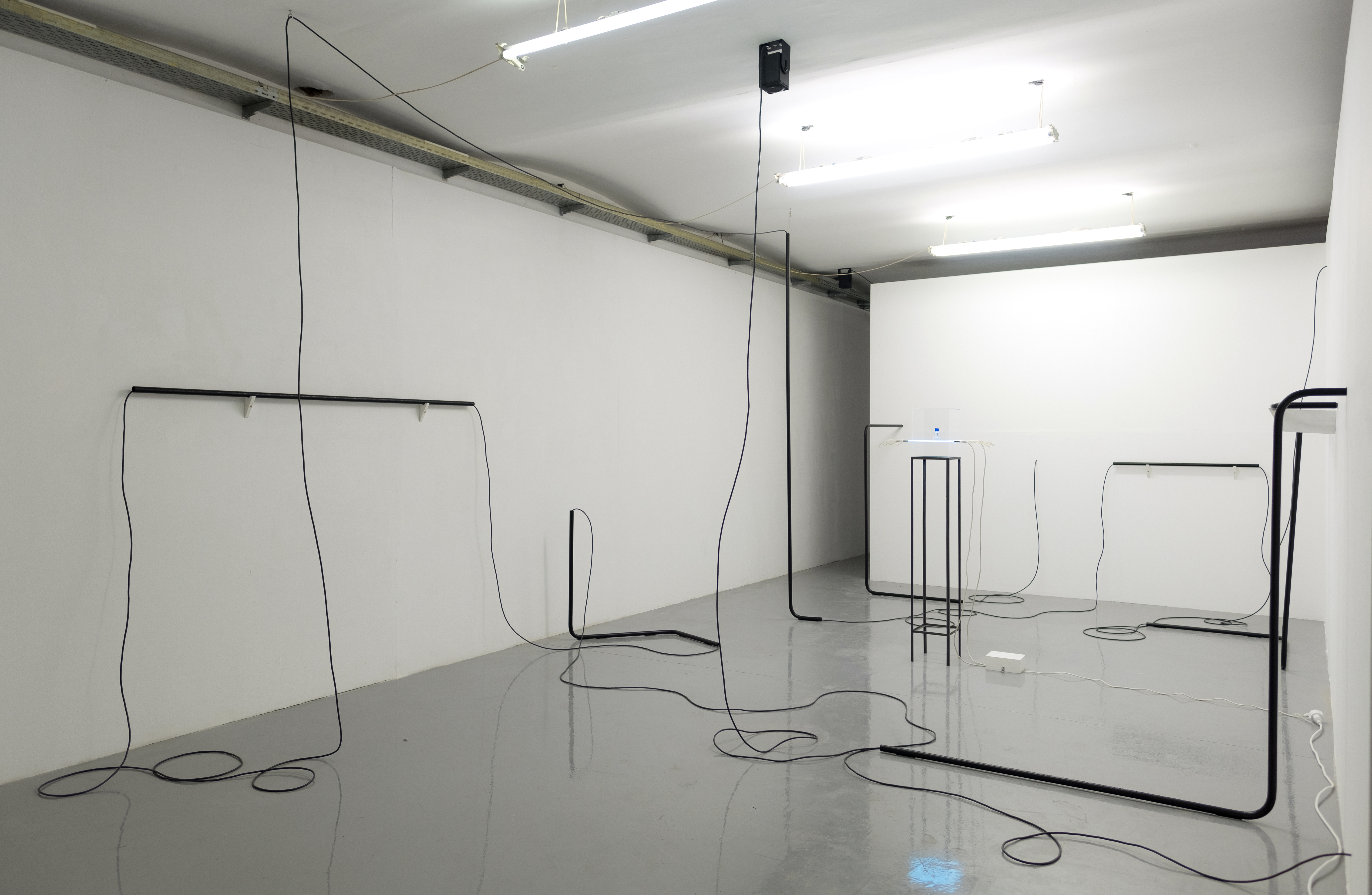 Installationview of room #2 showing artwork/installation by Dominique Koch
