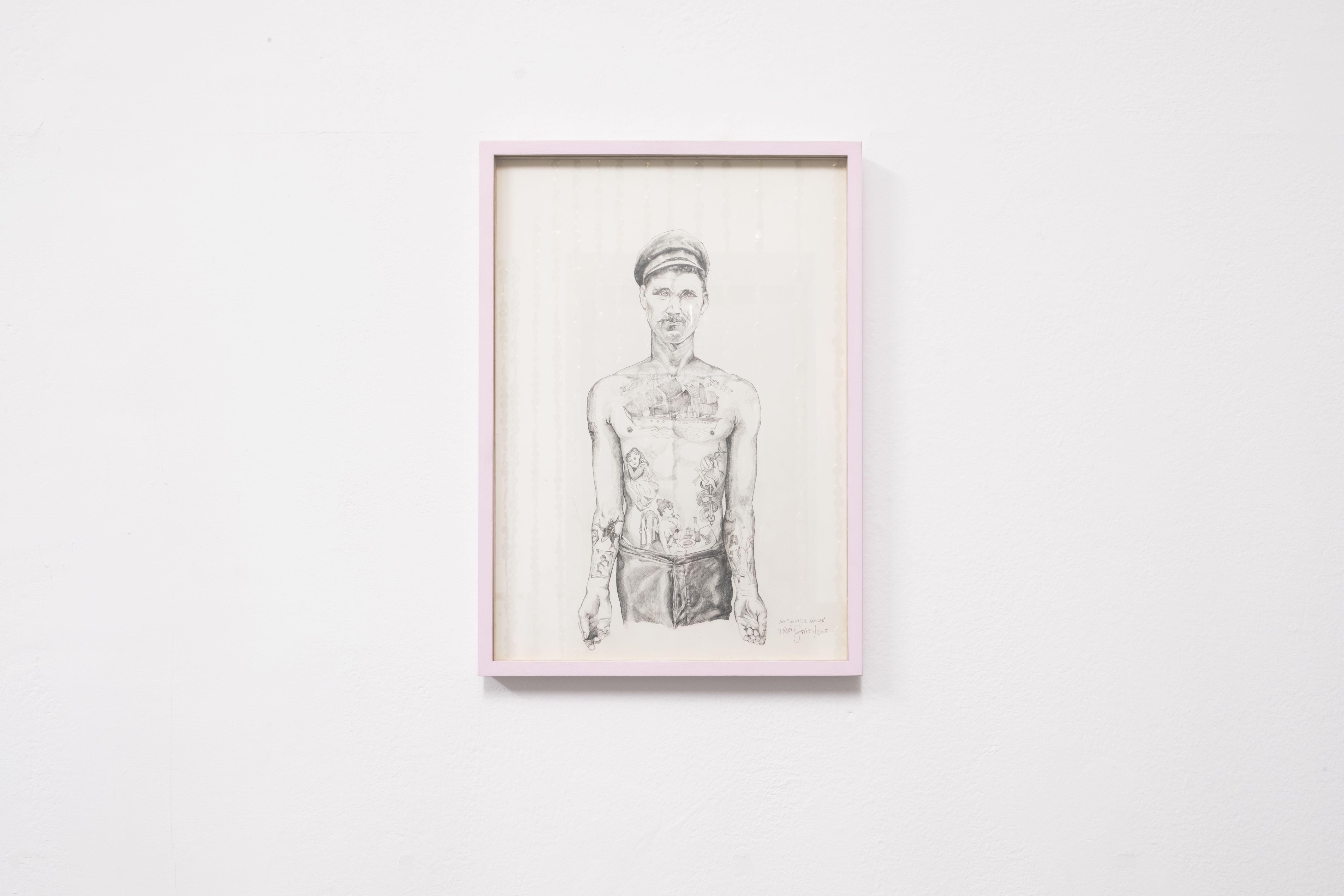 """Trixi Groiss, ohne Titel, aus der Serie """"100 nackte Männer"""", 2002–2006, Bleistift auf Papier, 42 x 29,7 cm"""
