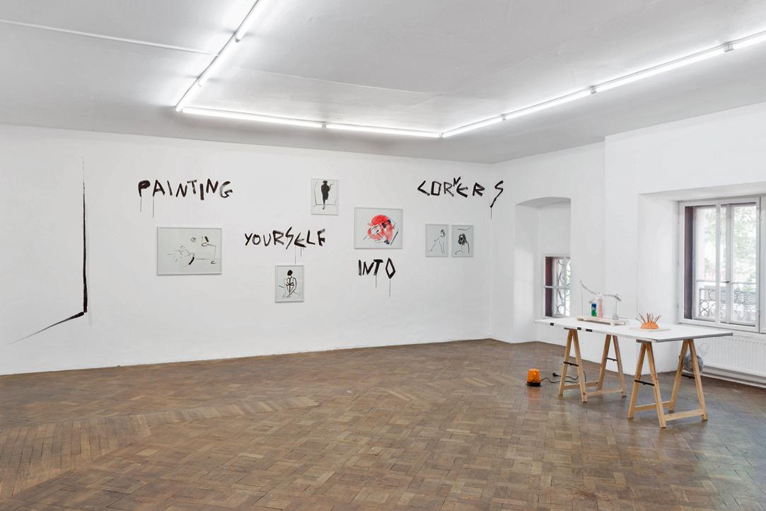 Ausstellungsansicht, SPEED, Panos Papadopoulos / Martin Grandits, Büro Weltausstellung, 2018