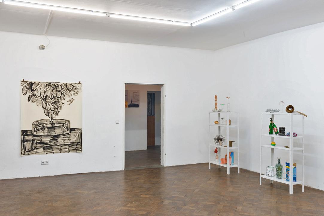 Ausstellungsansicht, SPEED, Rade Petrasevic / Christian Eisenberger, Büro Weltausstellung, 2018