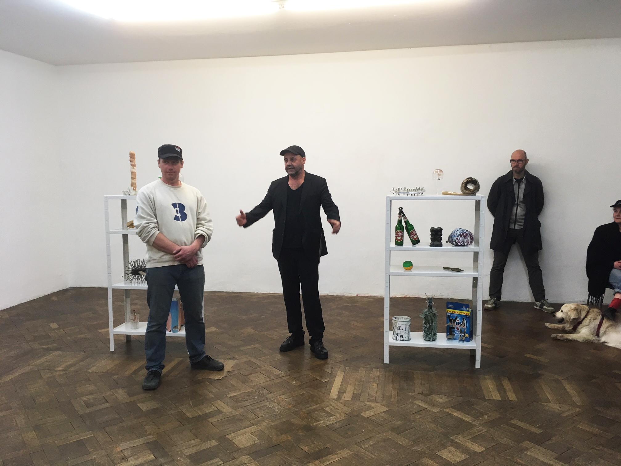 Artist Talk, Christian Eisenberger und Stefan Bidner, Büro Weltausstellung, 3.4.2018