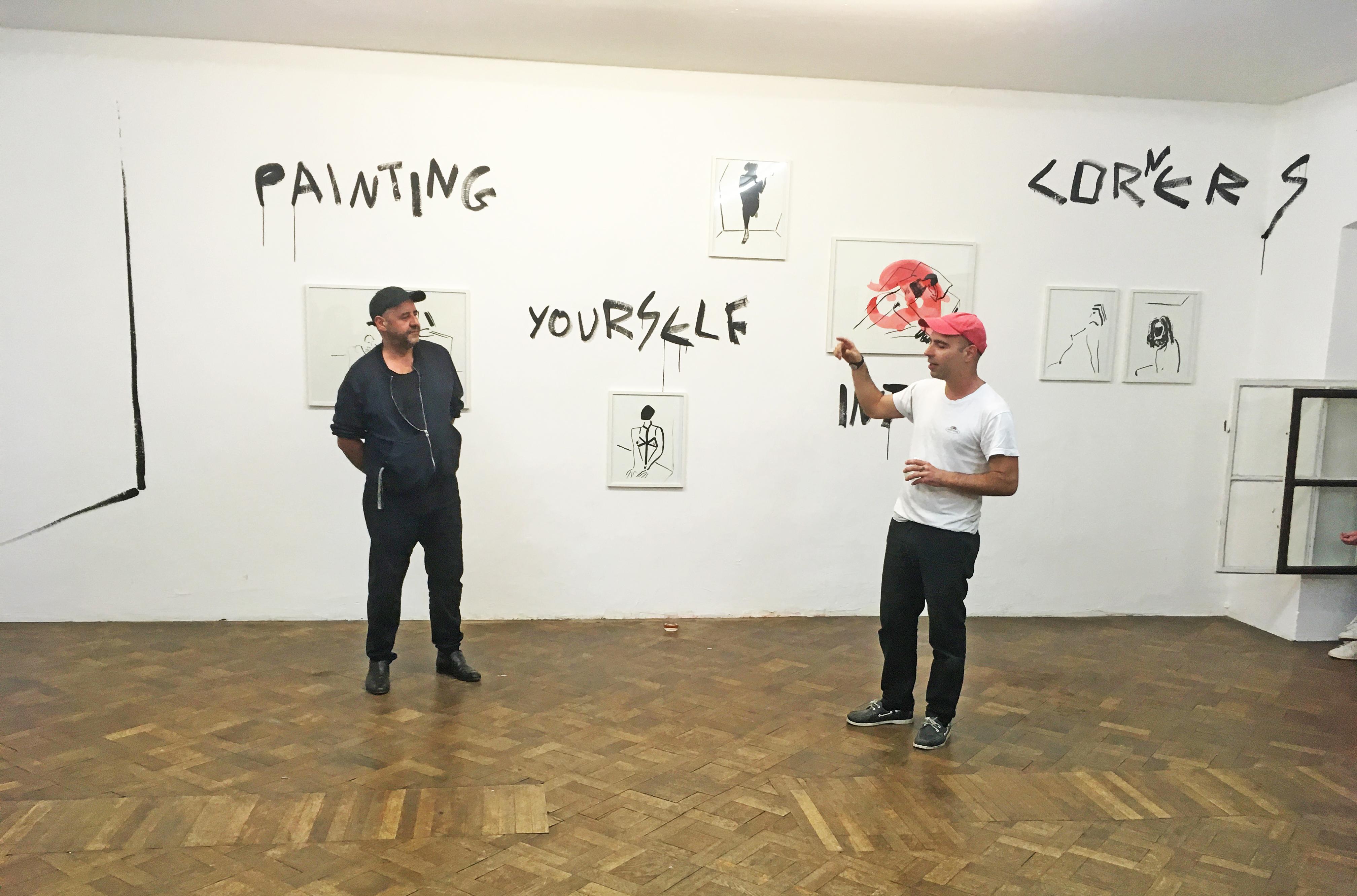 Artist Talk, Panos Papadopoulos und Stefan Bidner, Büro Weltausstellung, 23.4.2018