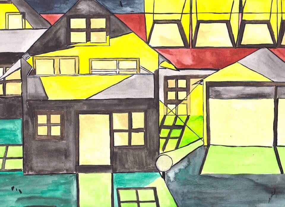 """JOSIP NOVOSEL, Zeichnung """"shadowstudies"""""""