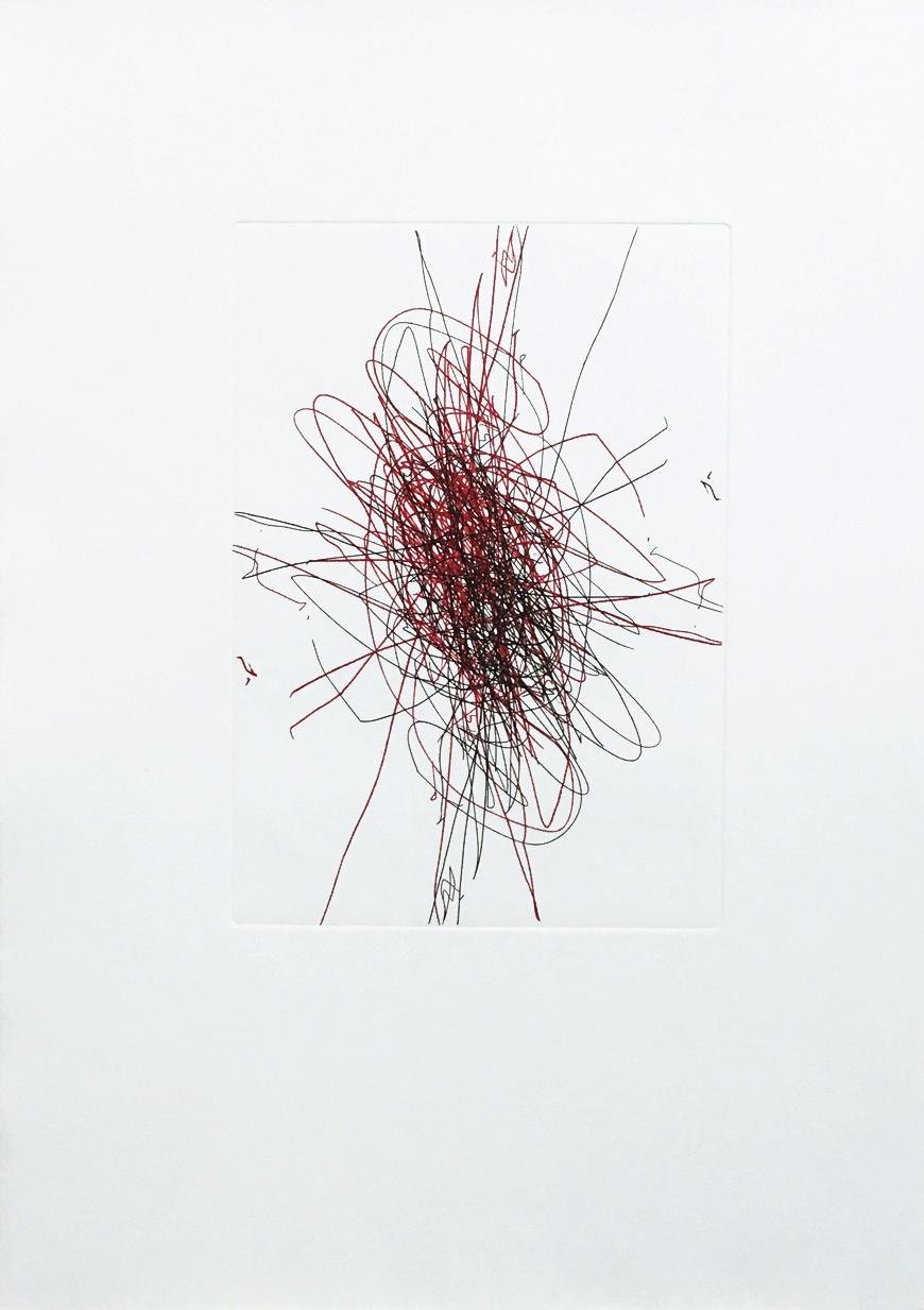 Radierung II, Hermann Nitsch für Büro Weltausstellung, 2018