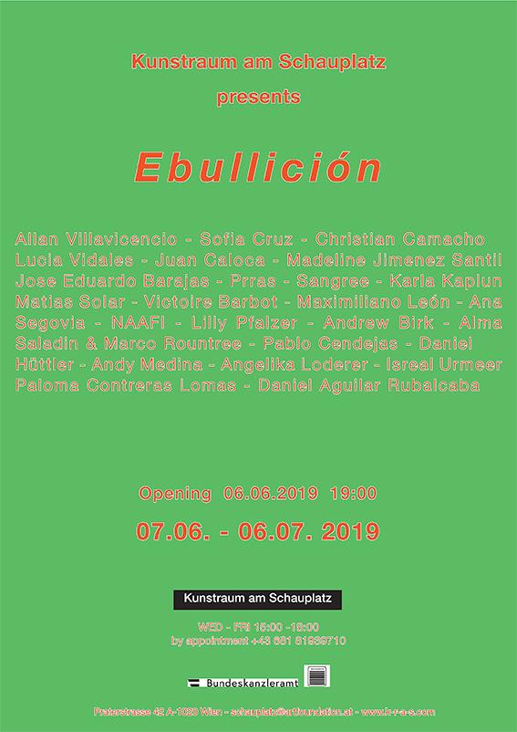 Ausstellungsplakat Ebullición
