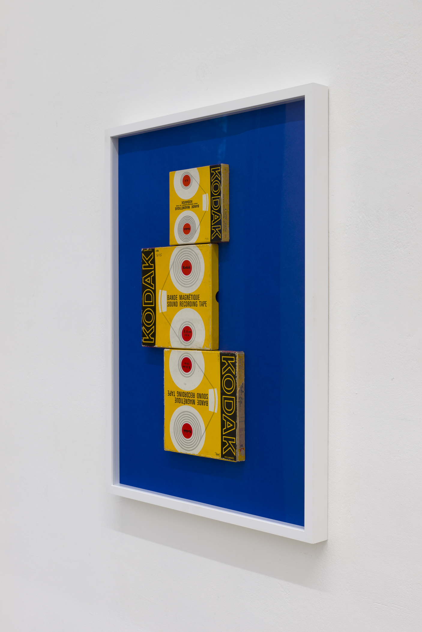 Mladen Bizumic, KODAK (Silent Bank Run), 2018, Kodak 6,25 & 6,3 mm tape sound recording packaging, 2018, Courtesy of the artist & Georg Kargl Fine Arts, Vienna