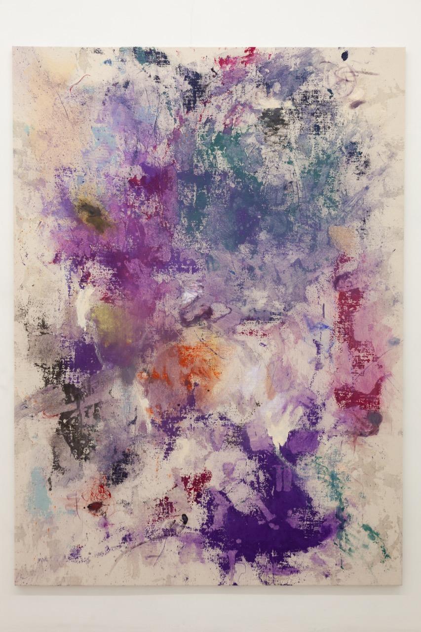 NINO STELZL, Thar, Acryl, Leim, Öl auf Leinwand, 200 x 145 cm, 2018