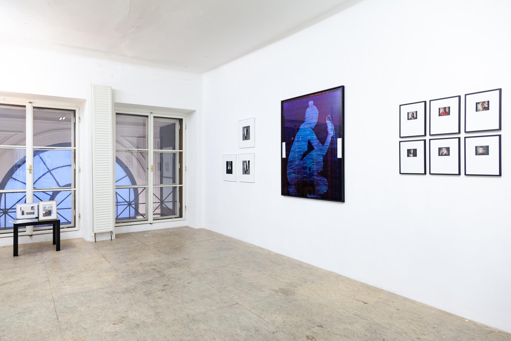 Installationsansicht: Elke Silvia Krystufek, Kerstin von Gabain, Sohie Thun, Crystin Moritz