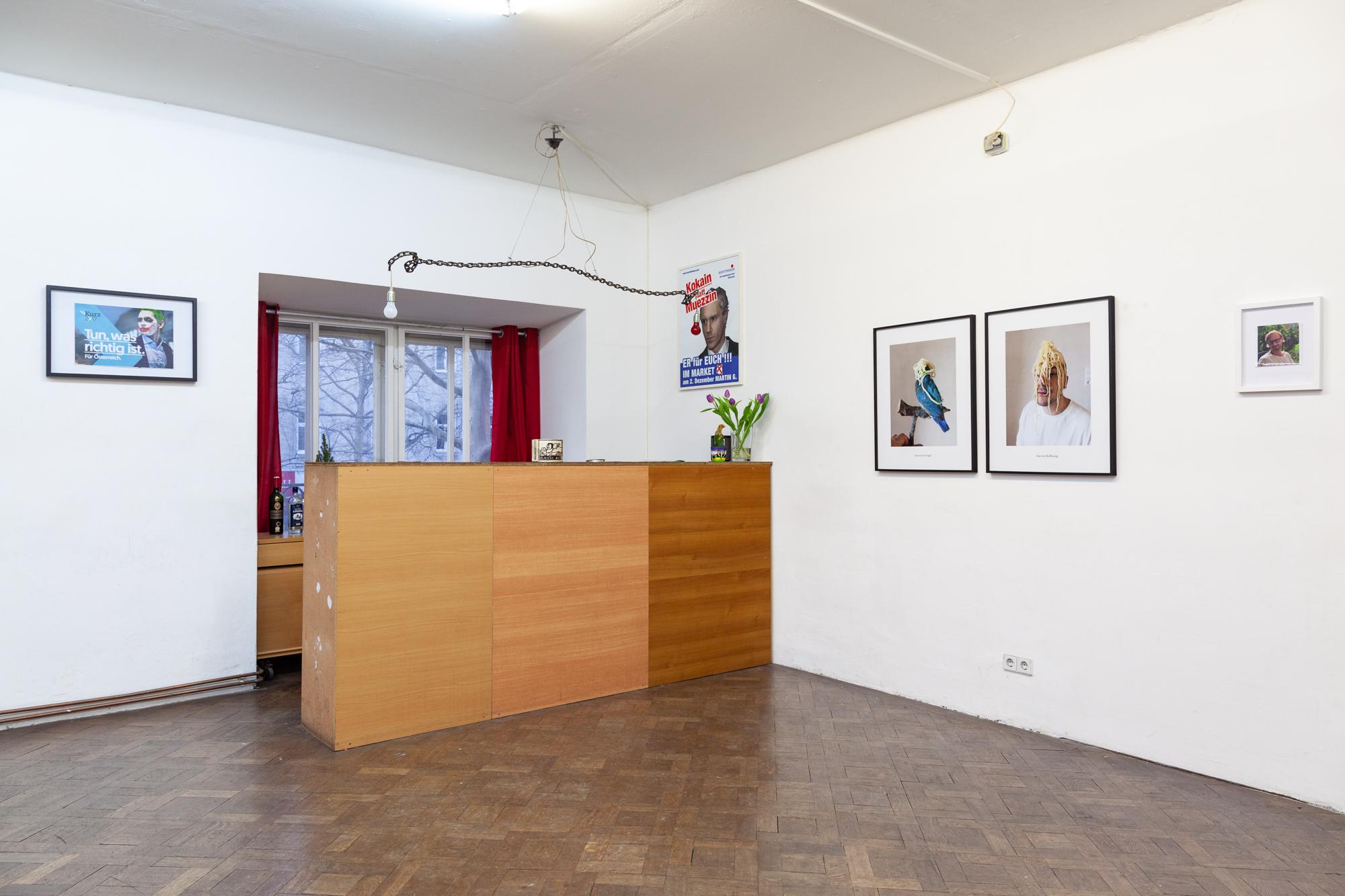 Installationsanischt: Martin Grandits und Erwin Wurm
