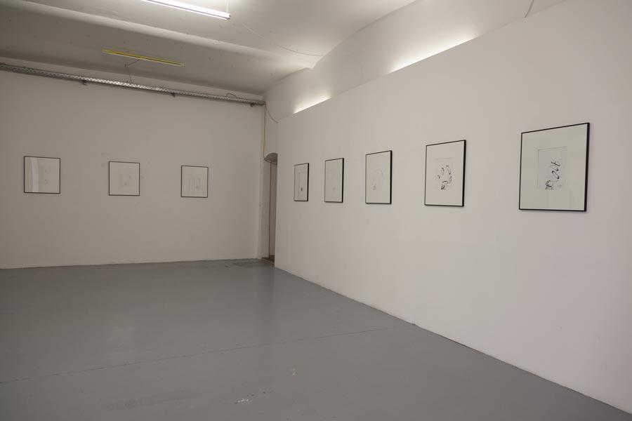 GEORG GELERNTER, Georg Chaimowicz kuratiert von Benjamin Kaufmann, Installationsansicht Kunstraum am Schauplatz