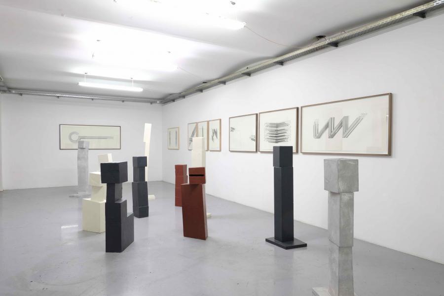 Ausstellungsansicht Florian Unterberger&Peter Pilz, Kunstraum am Schauplatz, 2017