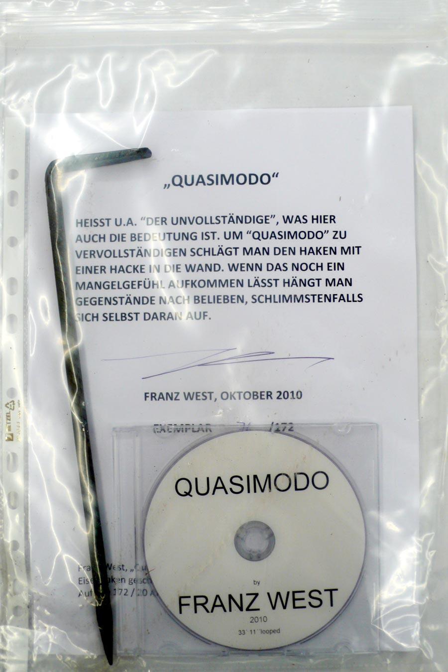 """Franz West, """"Quasimodo"""", 2010, Eisenhaken geschmiedet, DVD, 76 / 172"""