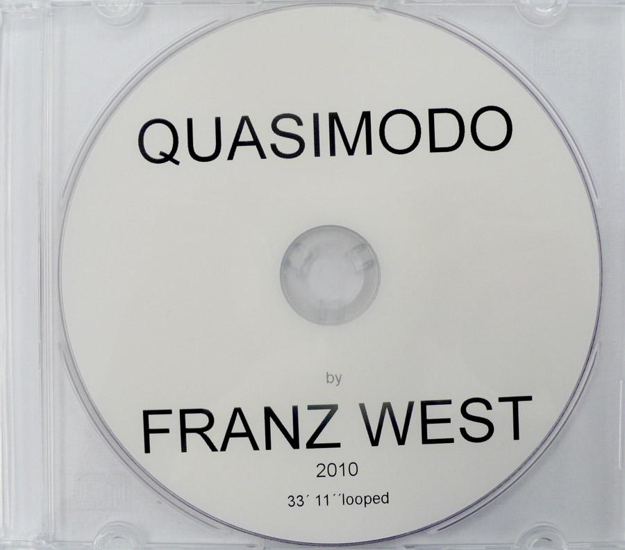 "Franz West, ""Quasimodo"", 2010, Detailansicht: DVD, 33'11'' looped"