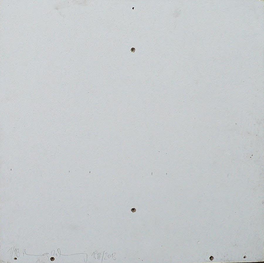 Heimo Zobernig, Ohne Titel, 1/13, 2013, Dispersion/Pressspan, 50 x 50 x 2 cm