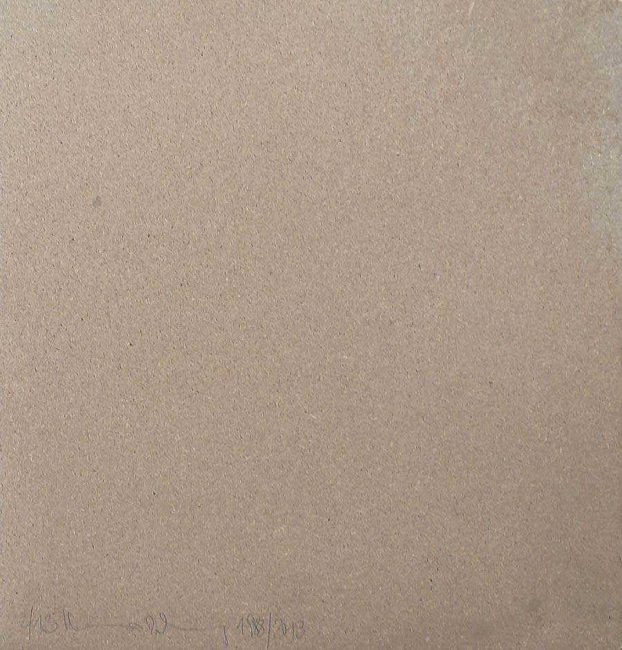 Heimo Zobernig, Ohne Titel, 2/13, 2013, Dispersion/Pressspan, 50 x 50 x 2 cm