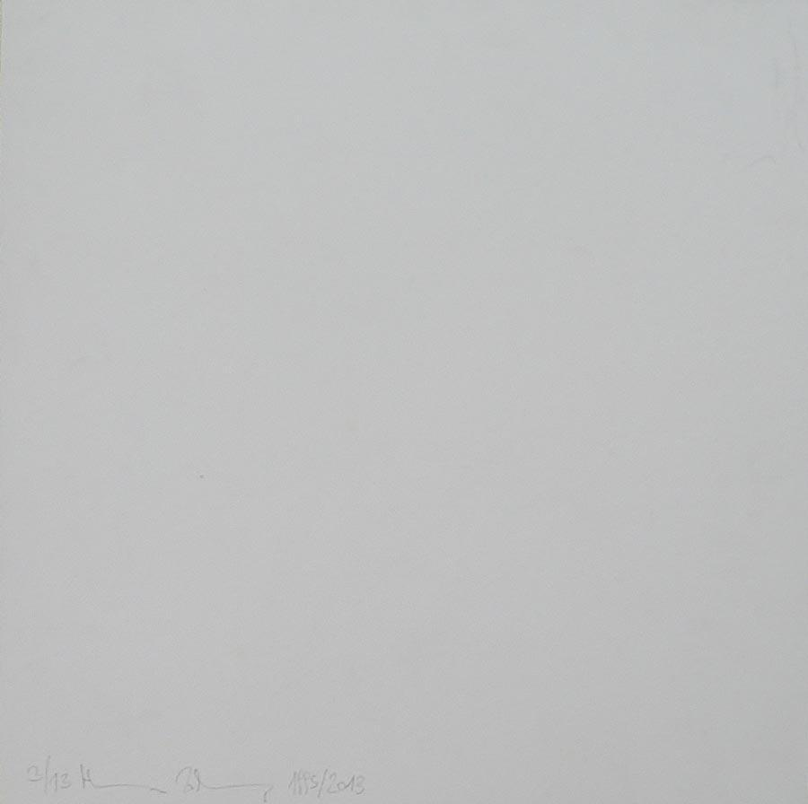Heimo Zobernig, Ohne Titel, 3/13, 2013, Dispersion/Pressspan, 50 x 50 x 2 cm