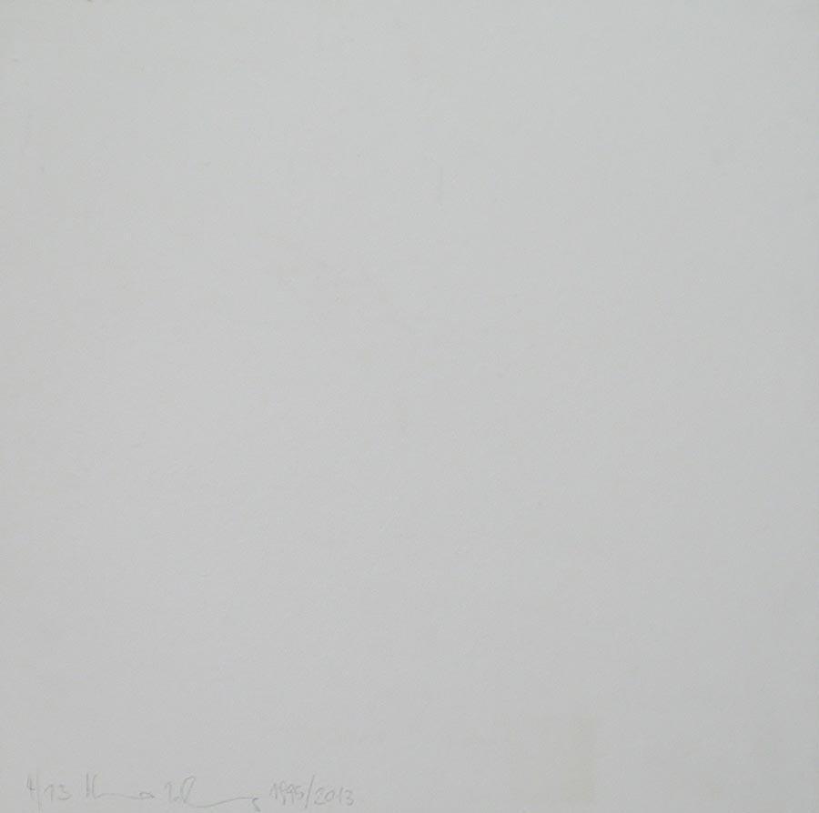 Heimo Zobernig, Ohne Titel, 4/13, 2013, Dispersion/Pressspan, 50 x 50 x 2 cm