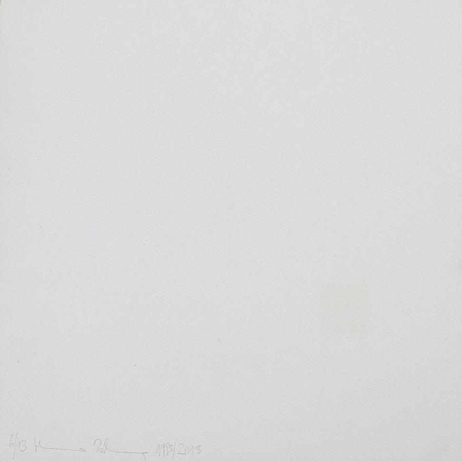 Heimo Zobernig, Ohne Titel, 6/13, 2013, Dispersion/Pressspan, 50 x 50 x 2 cm