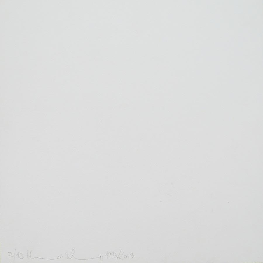 Heimo Zobernig, Ohne Titel, 7/13, 2013, Dispersion/Pressspan, 50 x 50 x 2 cm