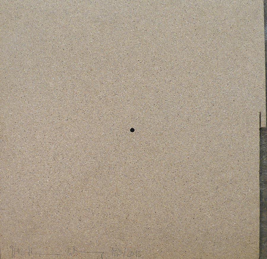 Heimo Zobernig, Ohne Titel, 9/13, 2013, Dispersion/Pressspan, 50 x 50 x 2 cm