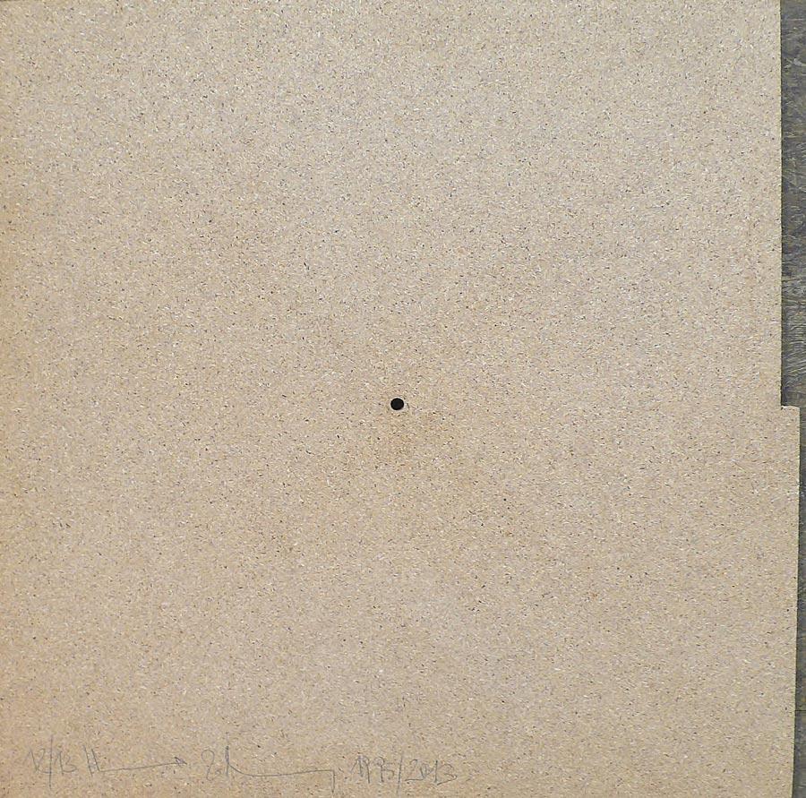 Heimo Zobernig, Ohne Titel, 12/13, 2013, Dispersion/Pressspan, 50 x 50 x 2 cm