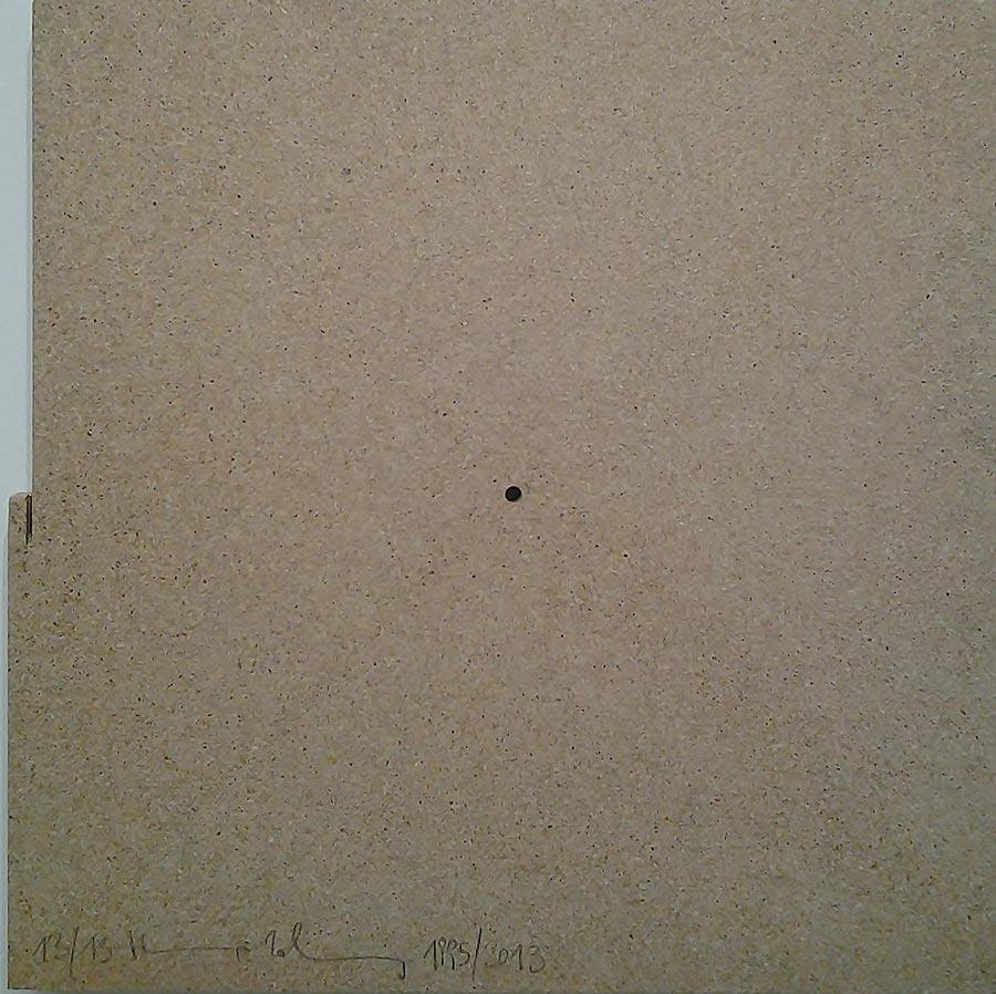 Heimo Zobernig, Ohne Titel, 13/13, 2013, Dispersion/Pressspan, 50 x 50 x 2 cm