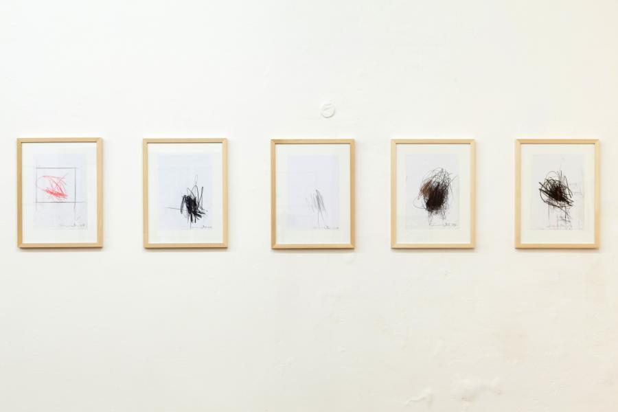 Informelle Zeichnungen, je 29,7 x 21 cm, 2016