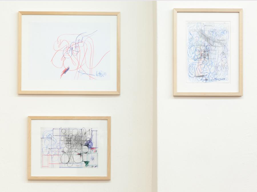 Architekturzeichnungen, Mischtechnik auf Papier, 2010, 2011, 2013