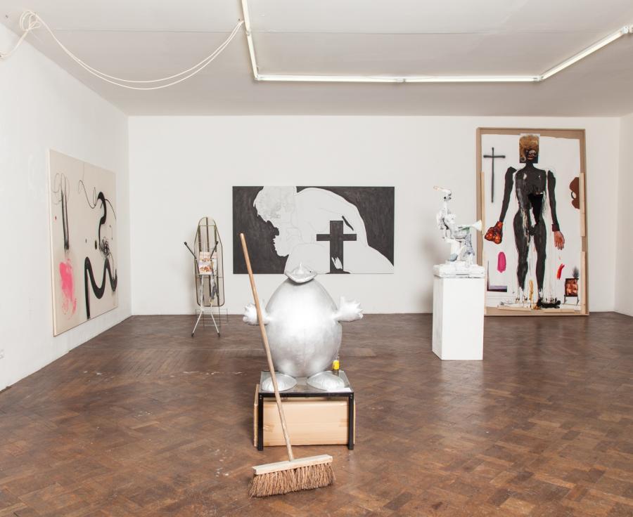 The Katharsis-Show, Installationsansicht Büro Weltausstellung, 2015/16.