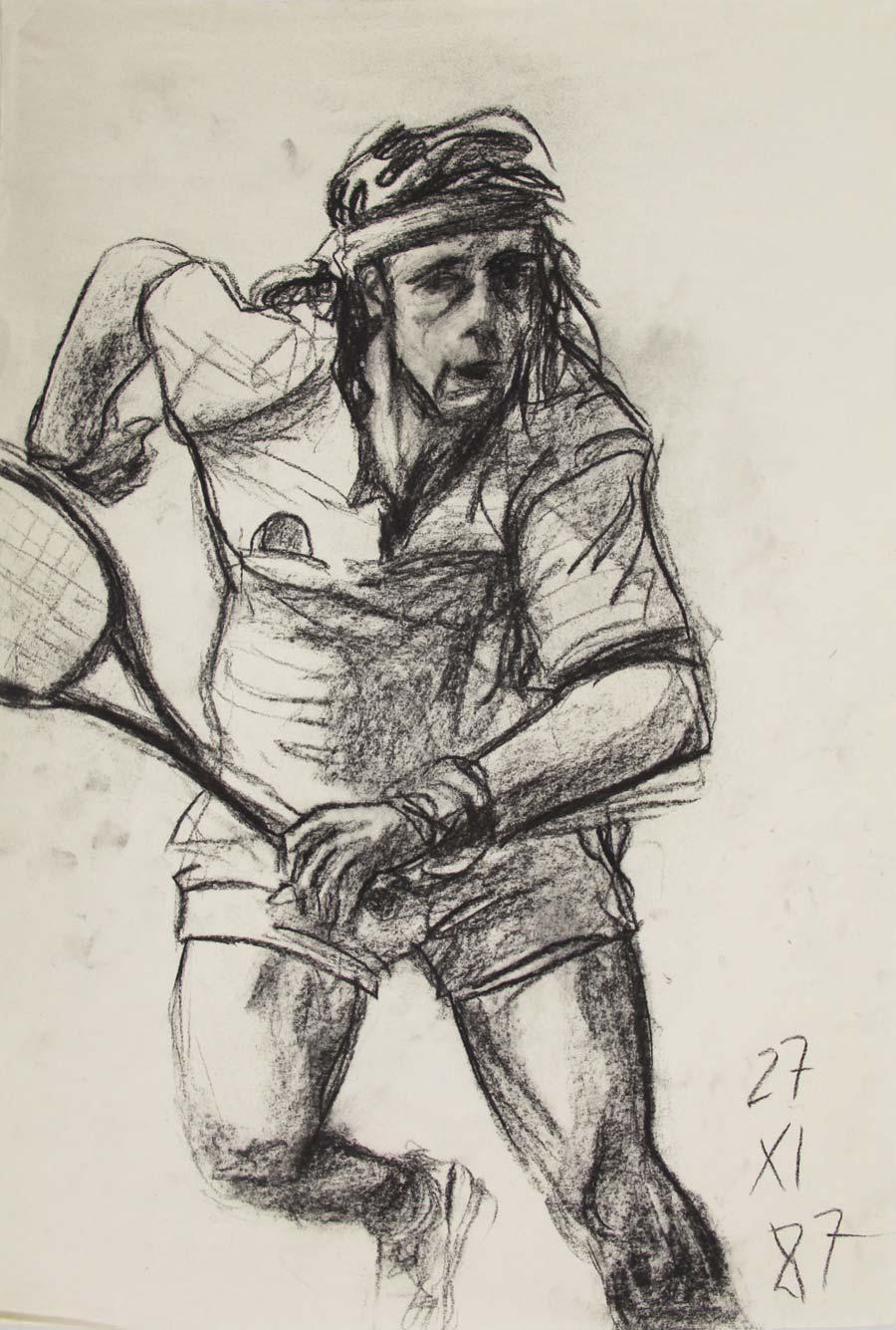 """""""27.XI.87"""", 1987, 45x31,6cm, black chalk on paper"""