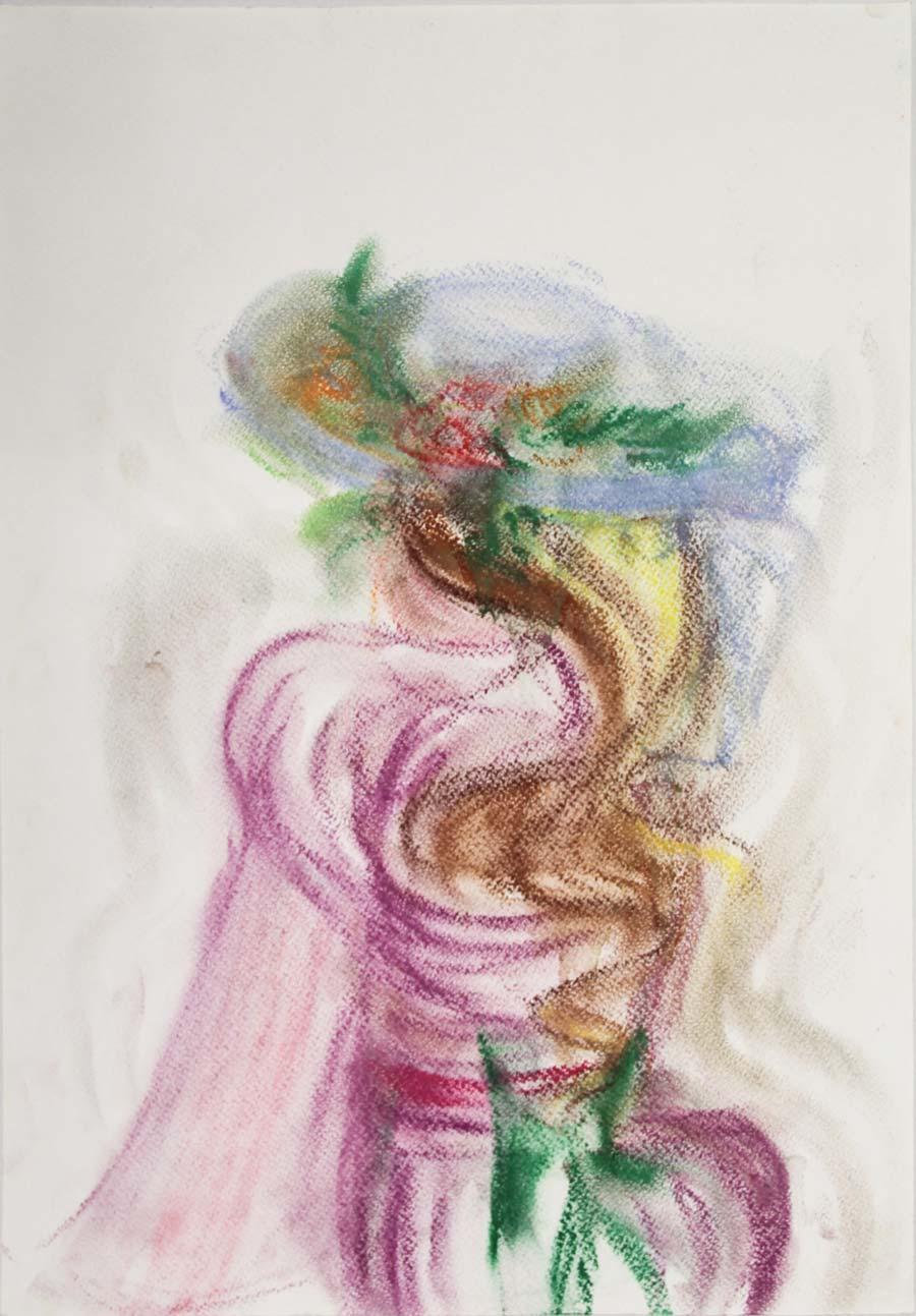 """17.X.87"", 1987, 42x29,5cm, pastel on paper"