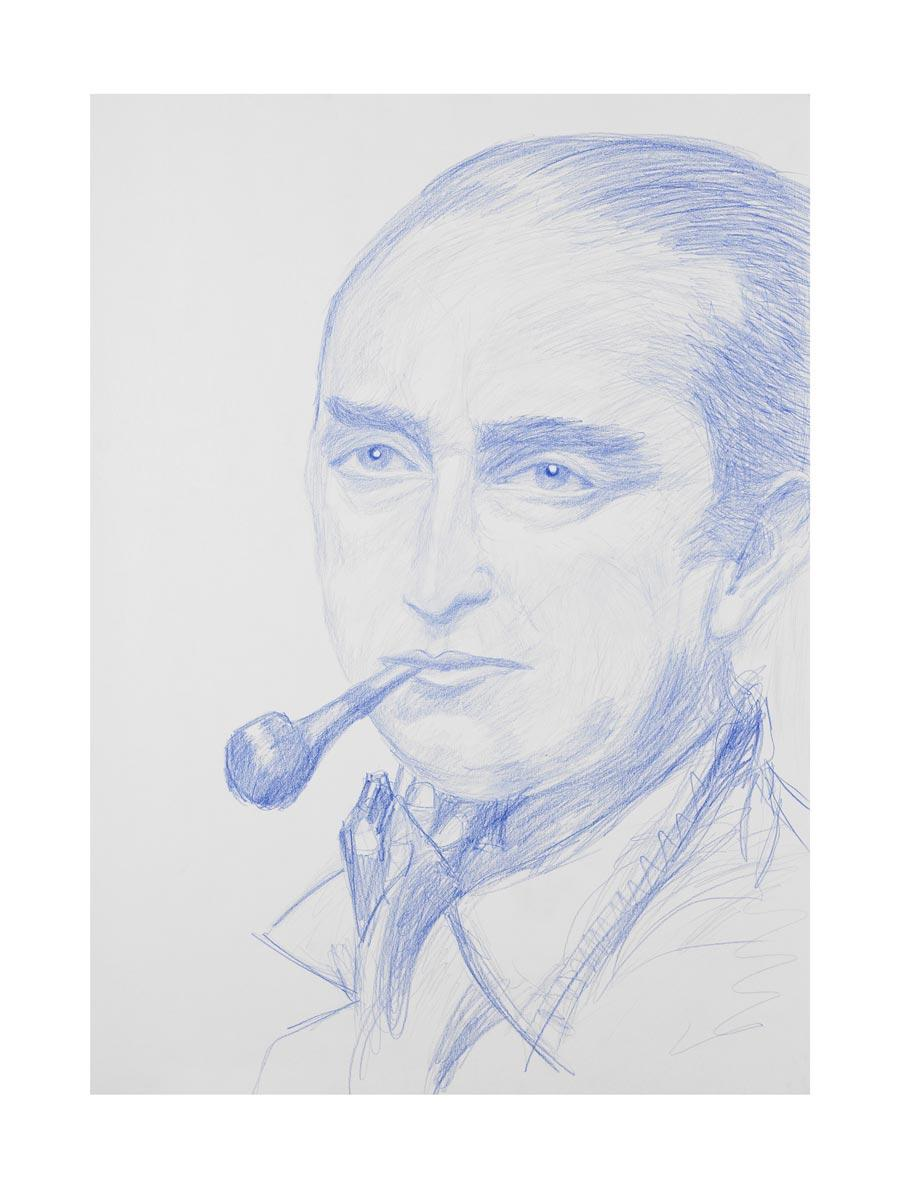 """""""Max Pechstein"""", 2009, 70x50cm, colored pencil on paper"""