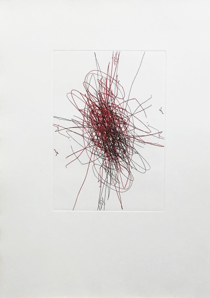 Hermann Nitsch, Radierung II für Büro Weltausstellung, 2018