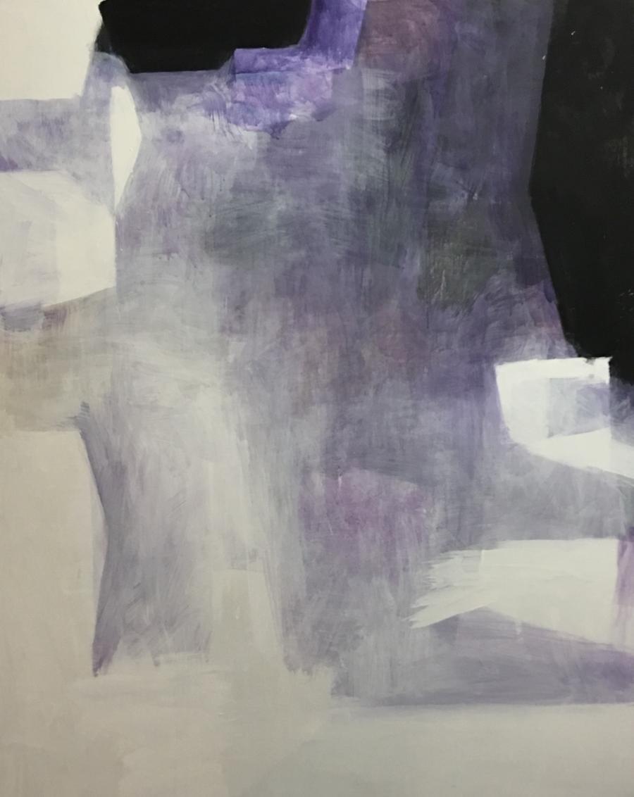 Walter Vopava, o.T., 2017, Öl auf Leinwand, 150 x 200 cm