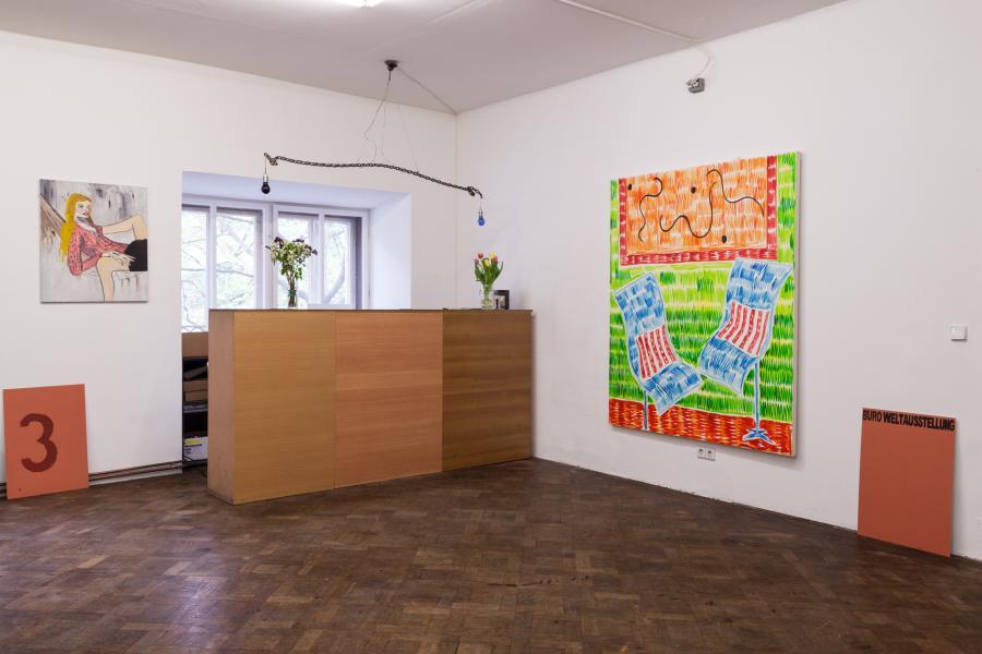 Ausstellungsansicht REVUE, Büro Welatausstellung, 2016, Foto: Björn Segschneider