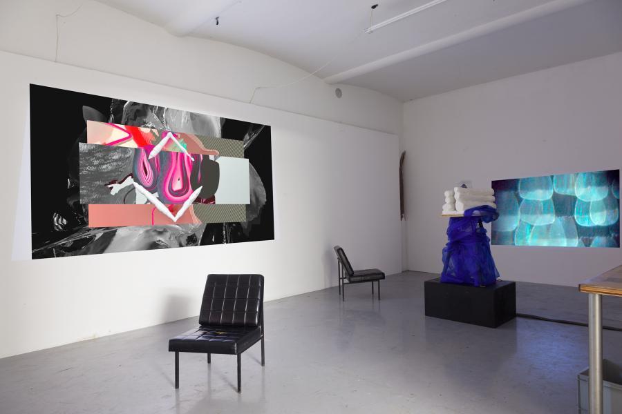 Installationsansicht DIAMANTEN Sam Rolfes / Sigrid Zobl, Kunstraum am Schauplatz, 2017, Foto Björn Segschneider