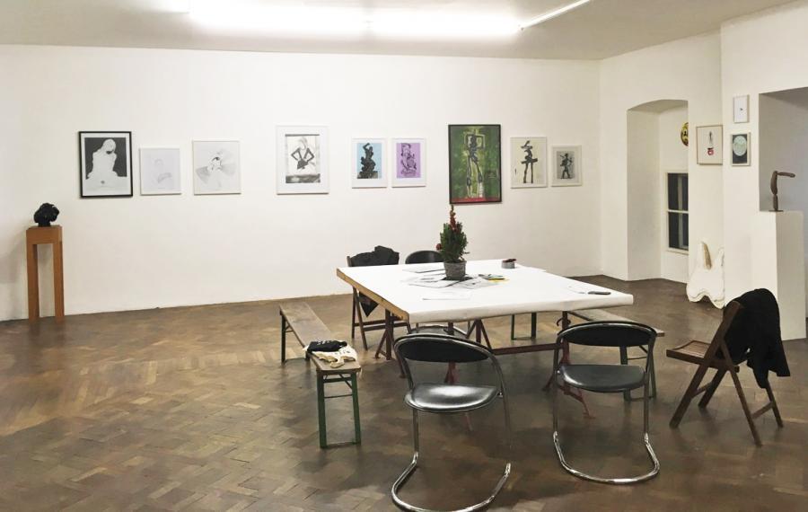 Ausstellungsansicht LAST CHRISTMAS, Julia Rublow, Franz Graf, Alex Ruthner, Katherina Olschbaur, Begi Guggenheim