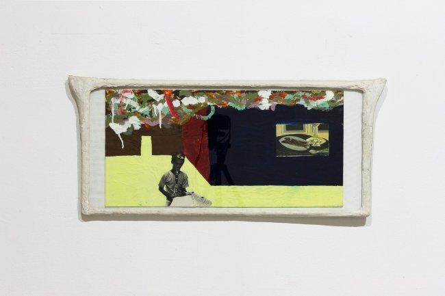 FRANZ WEST, Collage, 1996, Collage, papier mache frame, 91 x 41 cm, Photographer Arnas Anskaitis