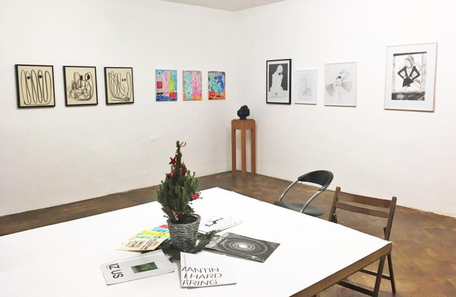 Ausstellungsansicht LAST CHRISTMAS, Chris Rosa, Rade Petrasevic, Julia Rublow, Franz Graf, Alex Ruthner