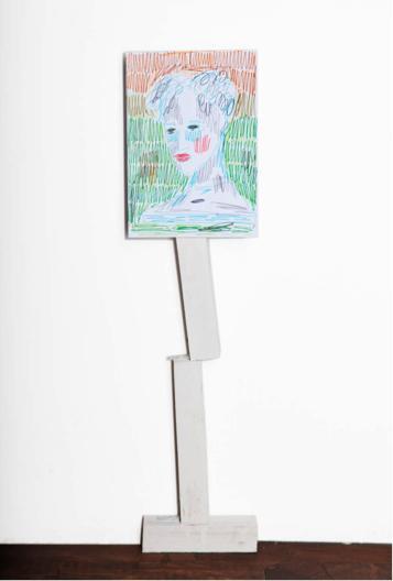 Rade Petrasevic, Edition (2), Unikat, 85 cm, Zeichnung auf Holzkonstruktion, 2015, € 850,-