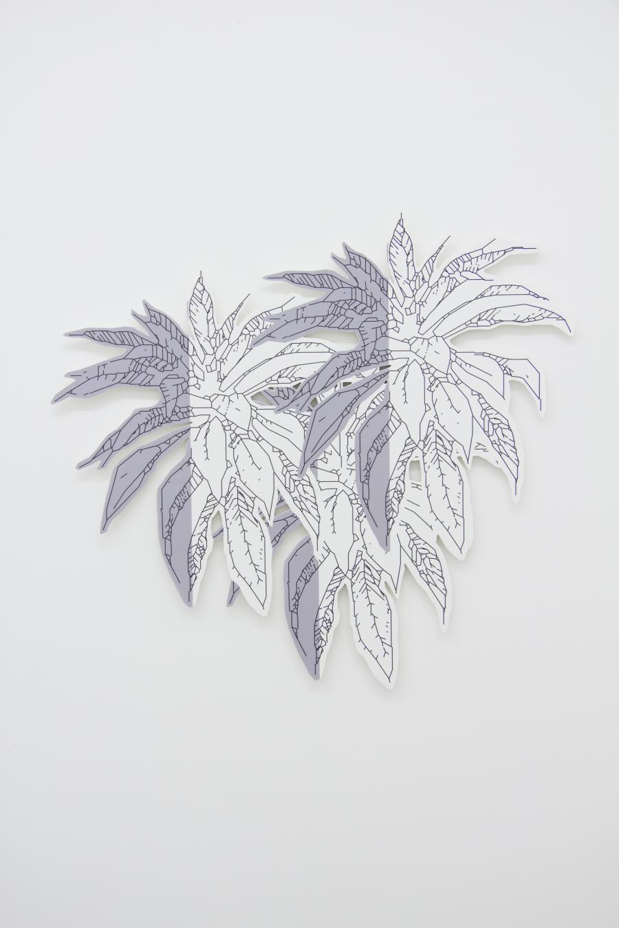 Richard Nikl, 3 Plants, UV-print on PVC, 86 x 79 cm, 2015