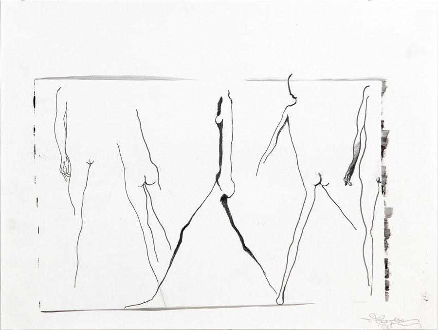 """""""AUF DEM WEG"""", 1983, 42 x 55 cm, Bleistift, auf Papier"""