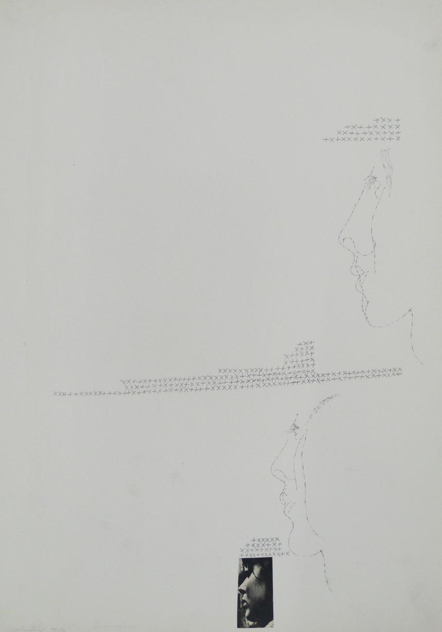 """""""MÄDCHEN. WIE EIN TRAUM"""" 1954, 62 x 44 cm, Bleistift auf Papier"""