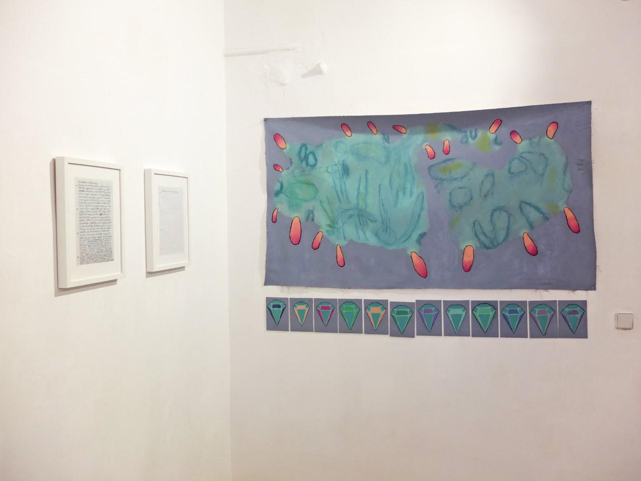 """""""Die Spürnasen"""", Öl auf Baumwolle, 90 x 170 cm, 2019"""