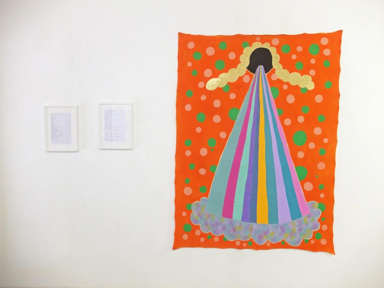 """""""Augenkrebs"""", Öl auf Baumwolle, 190 x 150 cm, 2019"""