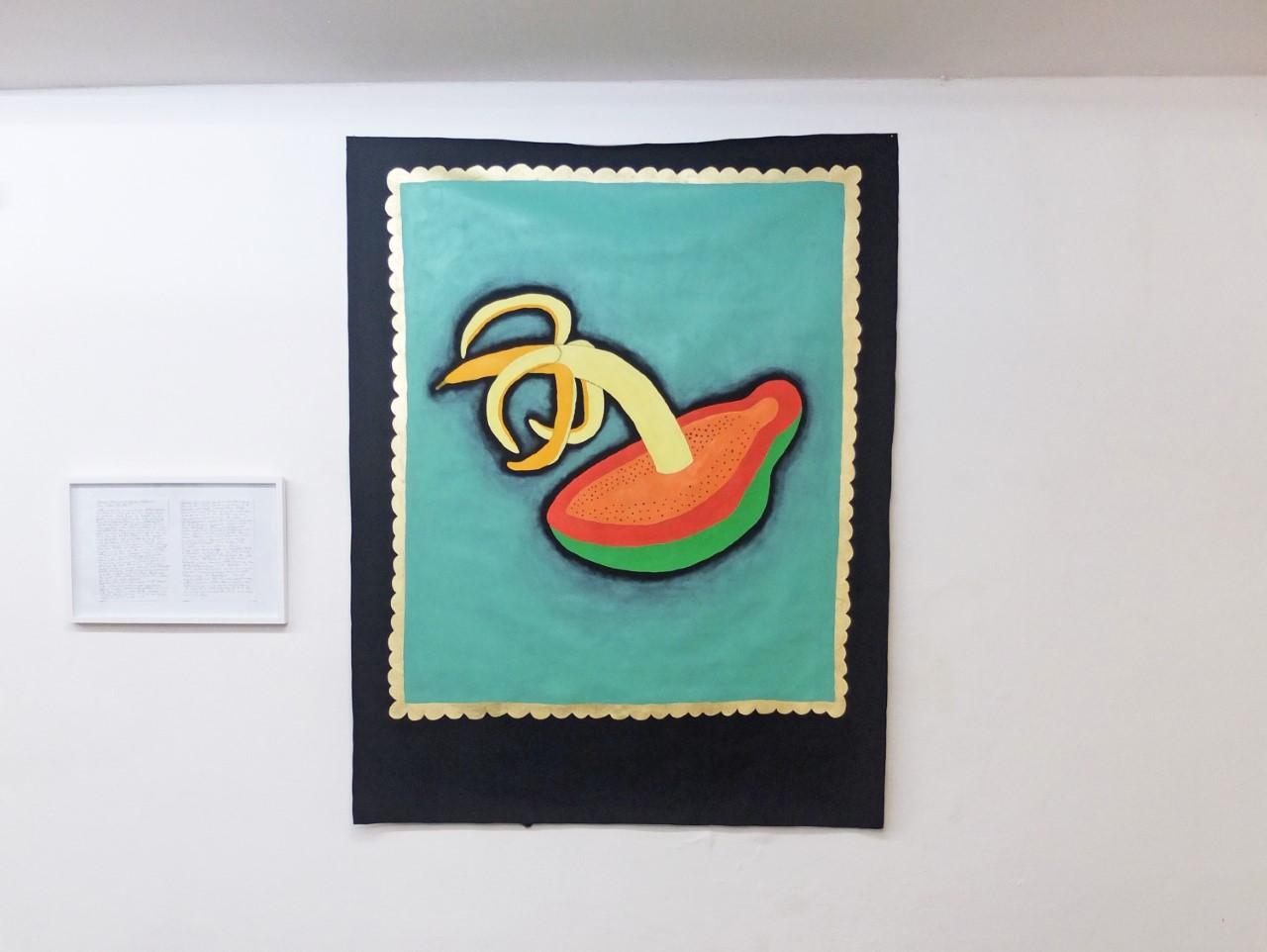 """""""Stillleben (Das Substrat der Kunst ist nicht politisch)"""", Öl, Acryl auf Baumwolle, 190 x 150 cm, 2019"""