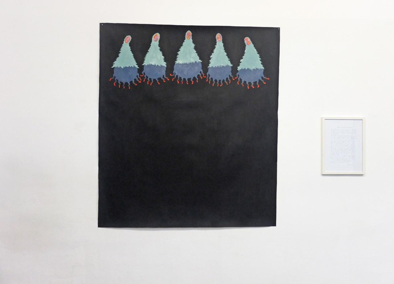 """""""Die Menschenfresser kommen"""" Öl, Acryl auf Baumwolle, 155 x 150 cm, 2019"""