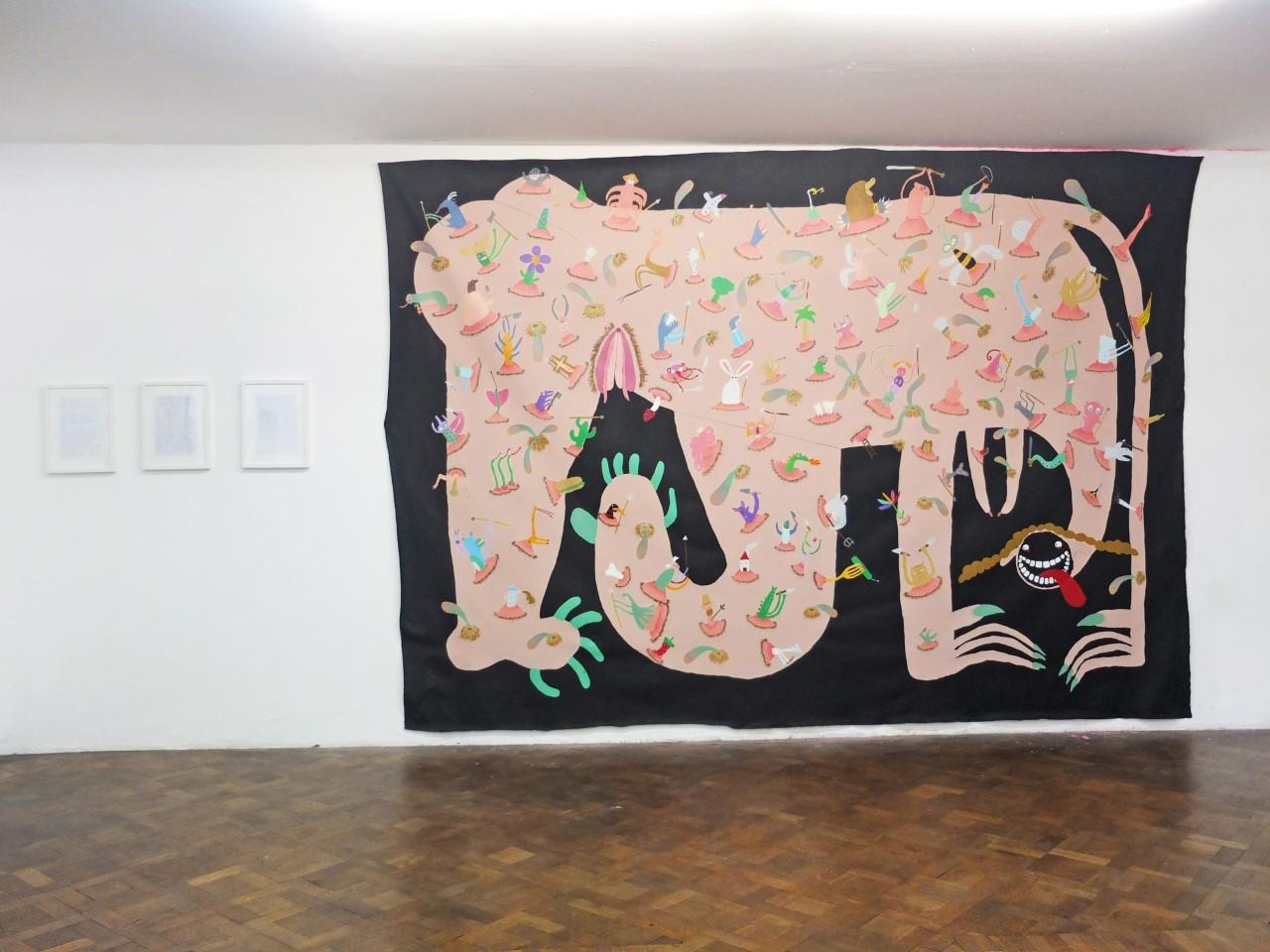 """""""Das Matriachat"""" Öl, Acryl auf Baumwolle, 290 x 410 cm,  2019"""